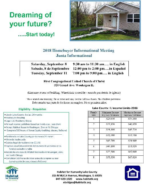 2018 Fall Homebuyer Meeting