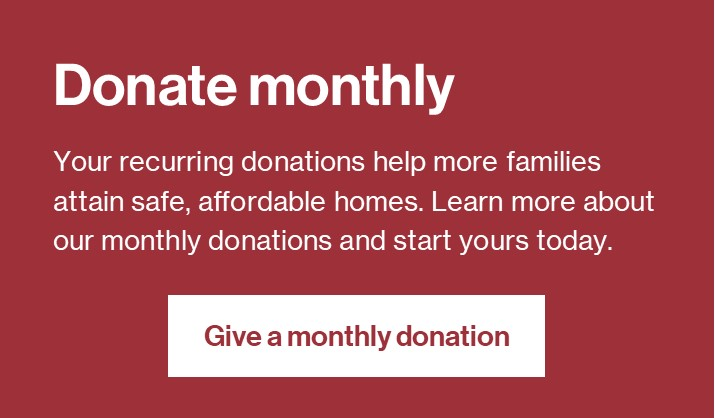 Donate monthly button