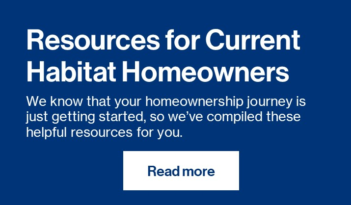Resources for Habitat Homeowners Button