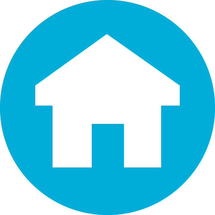 HFH Icon House Blue Circle