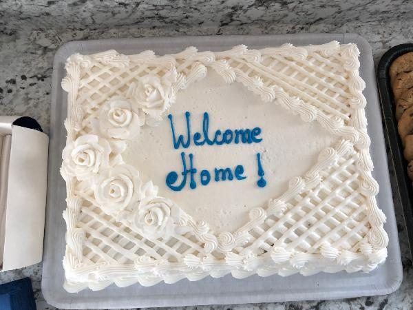 Home Dedication Cake