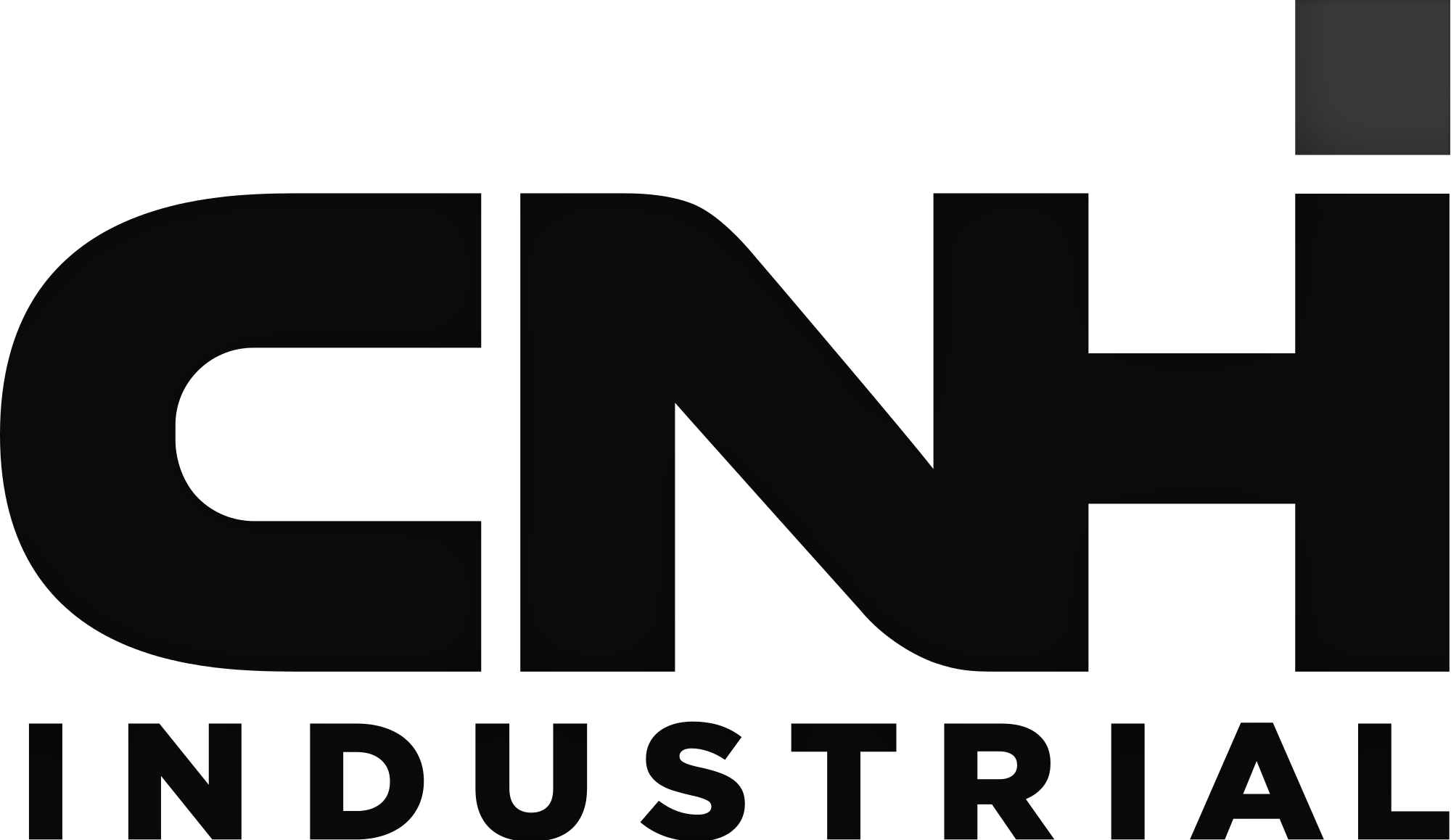 CNH black and white logo women build